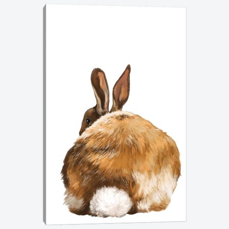 Rabbit Butt Canvas Print #BNW109} by Big Nose Work Canvas Art