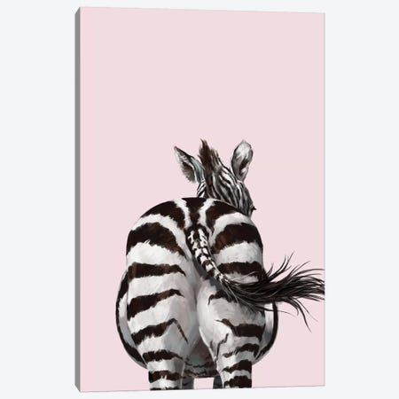 Zebra Butt Canvas Print #BNW114} by Big Nose Work Canvas Wall Art