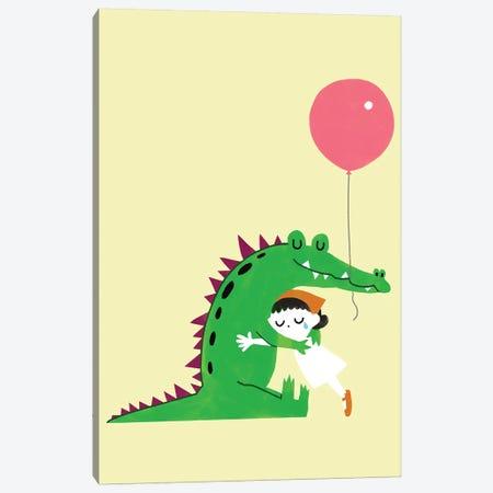Crocodile Hug 3-Piece Canvas #BNW137} by Big Nose Work Canvas Wall Art
