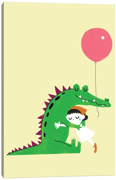 Crocodile Hug Canvas Art Print