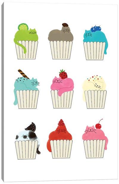 Cupcat Flavours Canvas Art Print