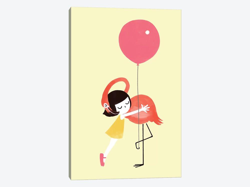 Flamingo Hug by Big Nose Work 1-piece Canvas Art Print