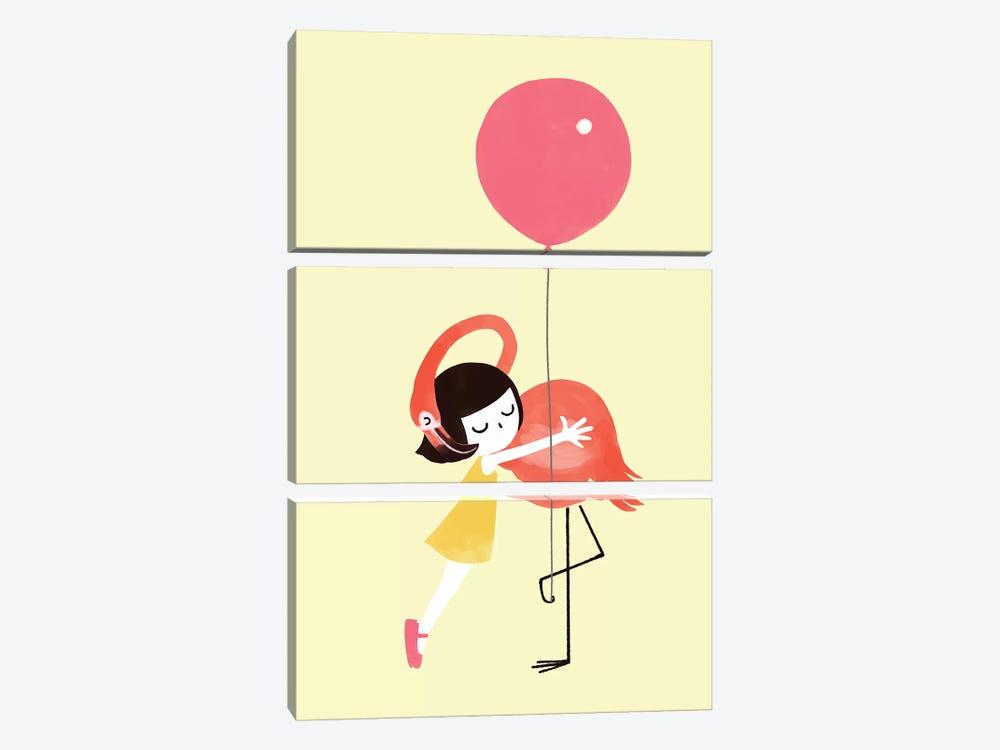 Flamingo Hug by Big Nose Work 3-piece Art Print