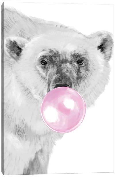 Bubble Gum Polar Bear Canvas Art Print