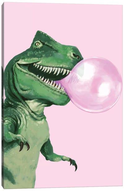 Bubble Gum T Rex Canvas Art Print