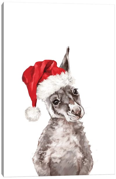 Christmas Baby Kangaroo Canvas Art Print