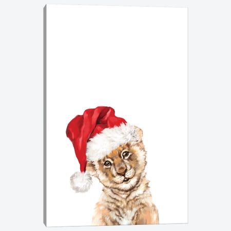 Christmas Baby Lion Canvas Print #BNW147} by Big Nose Work Canvas Print