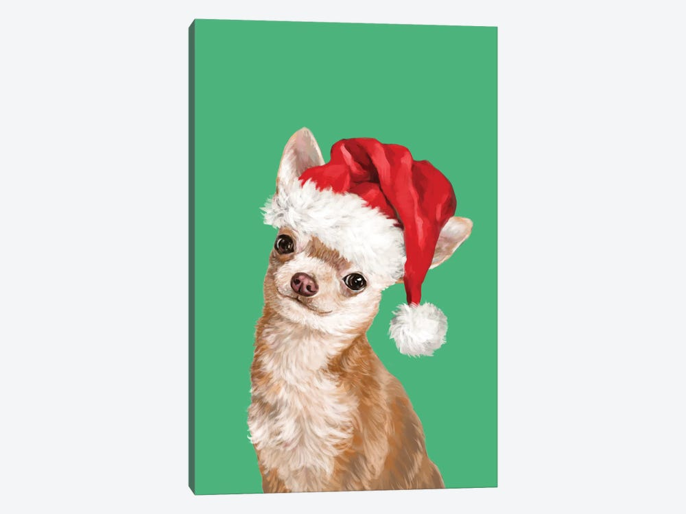 Christmas Chihuahua by Big Nose Work 1-piece Canvas Art