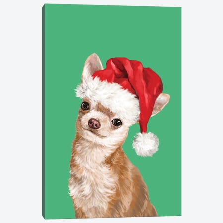 Christmas Chihuahua Canvas Print #BNW150} by Big Nose Work Canvas Print