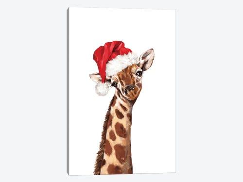 Christmas Giraffe Canvas Art By Big Nose Work Icanvas