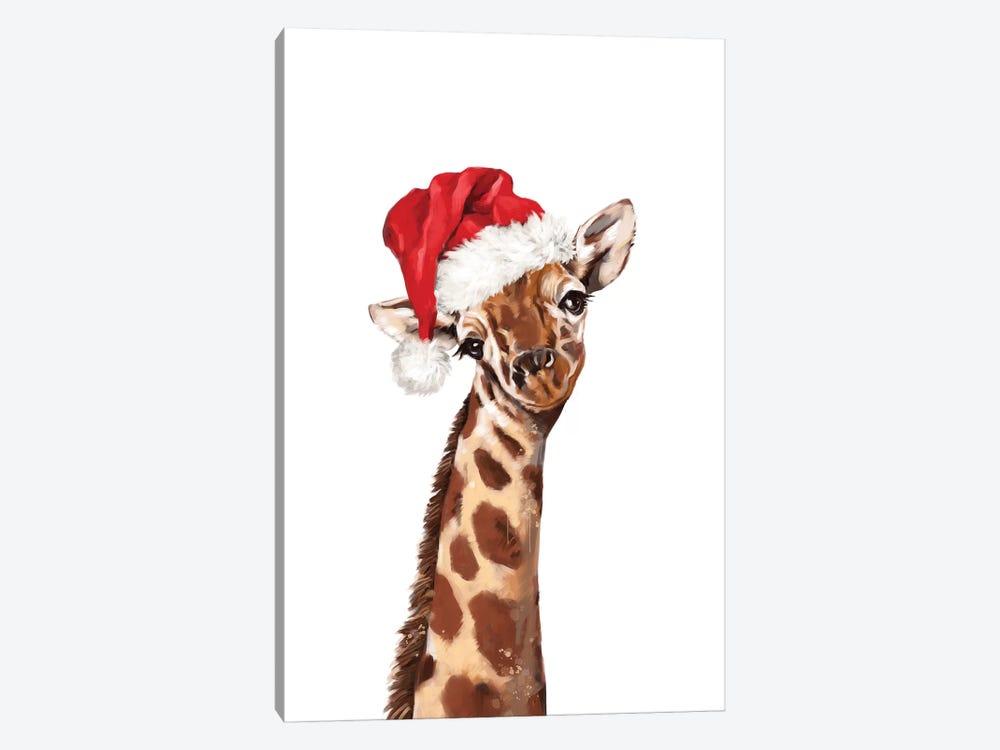 Christmas Giraffe by Big Nose Work 1-piece Canvas Artwork