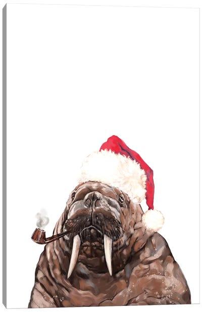 Christmas Daddy Walrus Canvas Art Print