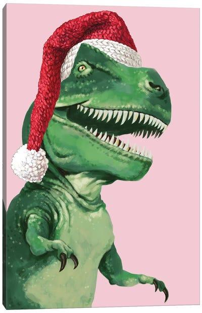 Santa T-Rex Canvas Art Print