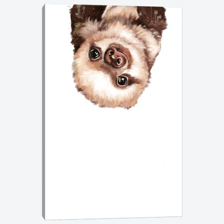 Baby Sloth Canvas Print #BNW19} by Big Nose Work Canvas Artwork
