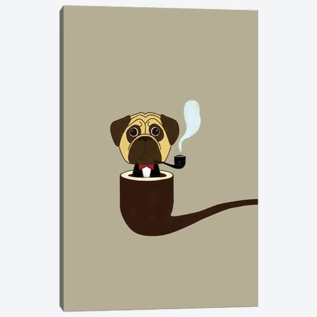 Big Boss Pug Canvas Print #BNW23} by Big Nose Work Canvas Print