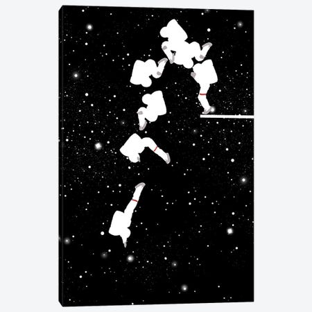Astronaut Fancy Diving Canvas Print #BNW2} by Big Nose Work Canvas Art