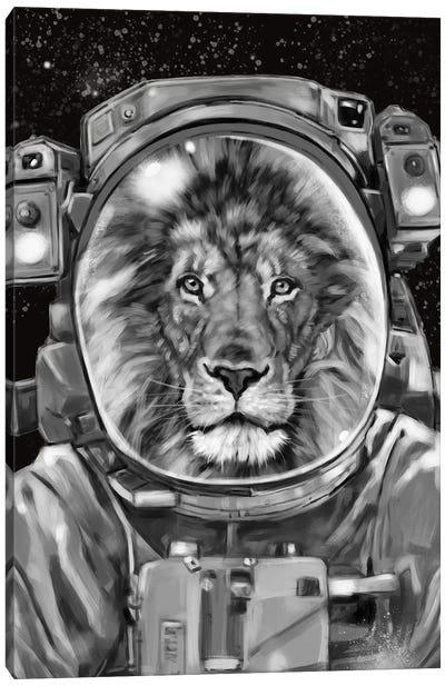 Astronaut Lion Selfie Canvas Art Print