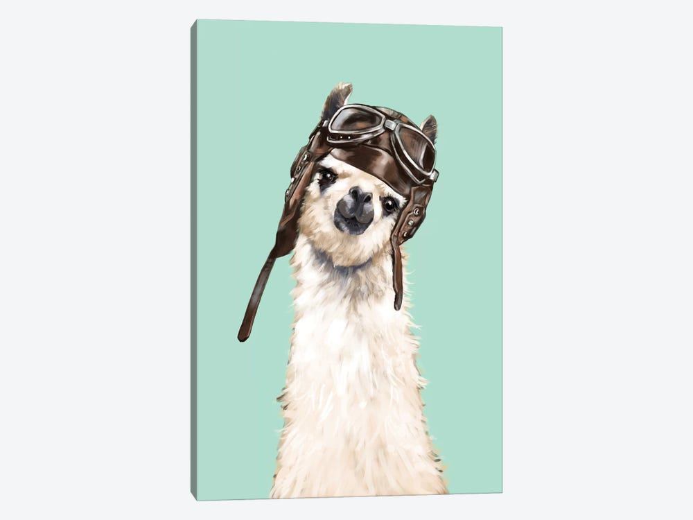 Cool Pilot Llama by Big Nose Work 1-piece Canvas Wall Art