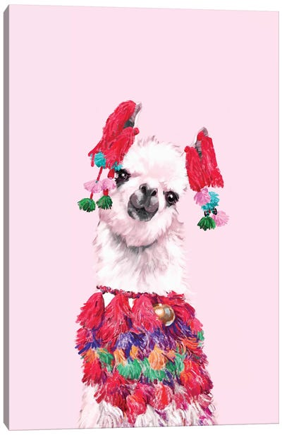 Coolest Llama Canvas Art Print