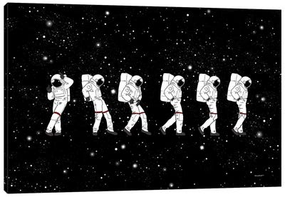 Astronaut Love Moonwalk Canvas Art Print