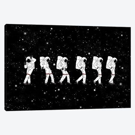 Astronaut Love Moonwalk Canvas Print #BNW4} by Big Nose Work Art Print