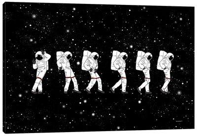 Astronaut Love Moonwalk Canvas Art Print