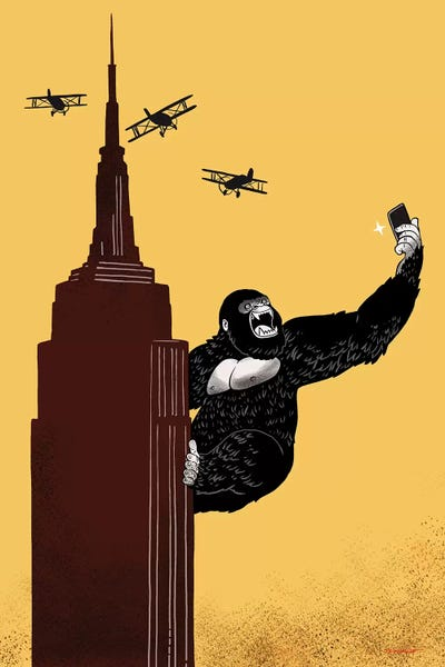 50687a4d18f King Kong Love To Selfie Canvas Art by Big Nose Work