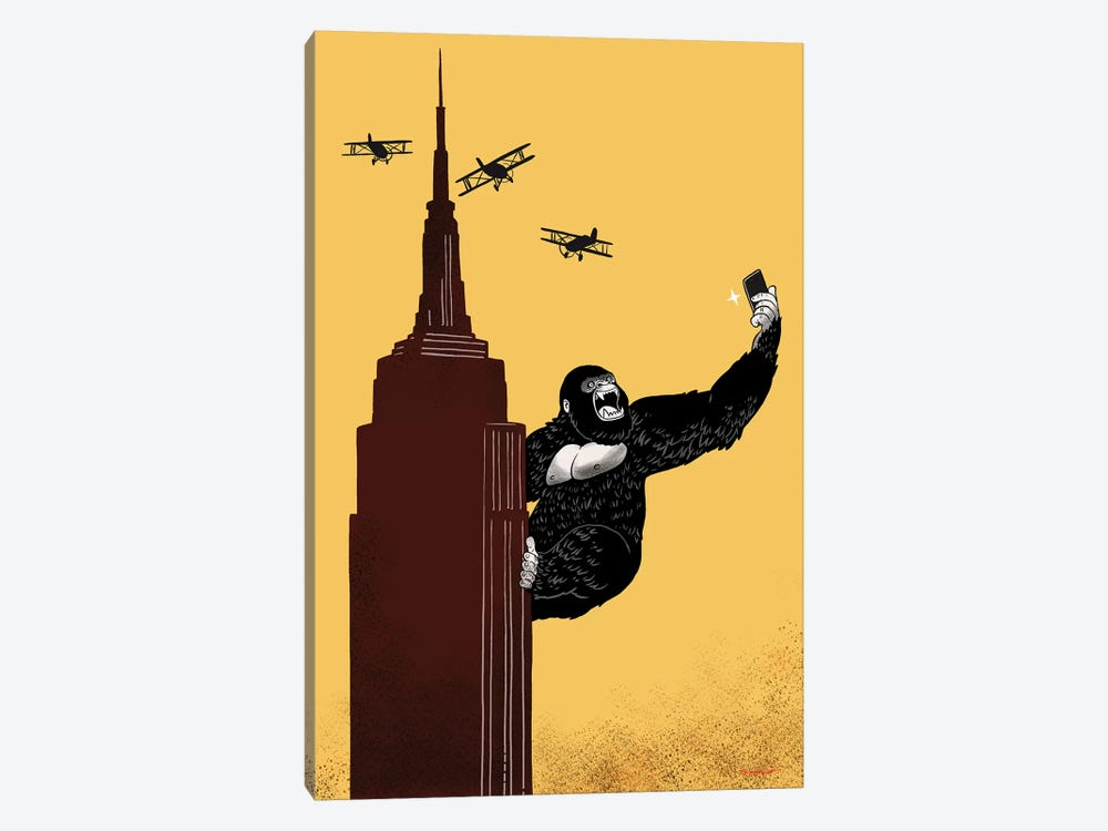 King Kong Love To Selfie by Big Nose Work 1-piece Canvas Print