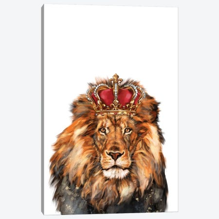 Lion King Canvas Print #BNW52} by Big Nose Work Canvas Wall Art