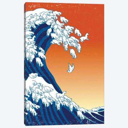 Llama Waves Canvas Print #BNW56} by Big Nose Work Canvas Print