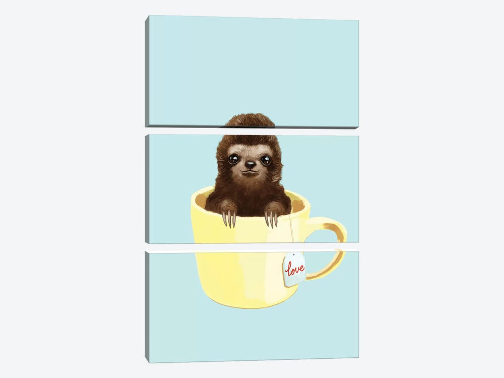 Love Sloth by Big Nose Work 3-piece Art Print