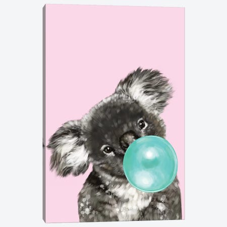 Playful Koala Bear Canvas Print #BNW62} by Big Nose Work Canvas Print