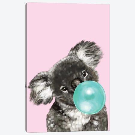 Playful Koala Bear Canvas Print #BNW62} by Big Nose Work Canvas Print