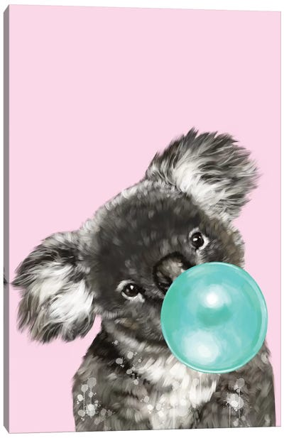 Playful Koala Bear Canvas Art Print