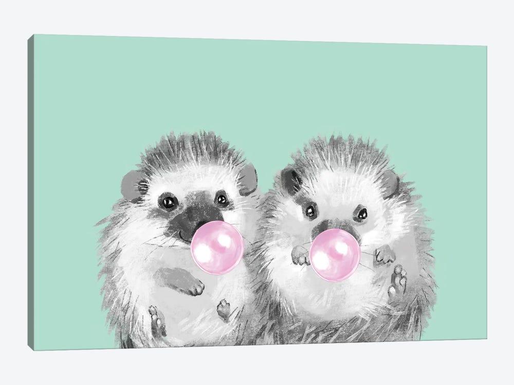Playful Twins Hedgehog by Big Nose Work 1-piece Canvas Art