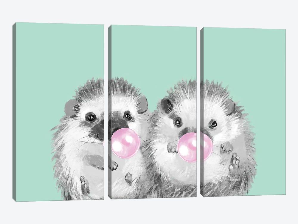 Playful Twins Hedgehog by Big Nose Work 3-piece Canvas Artwork