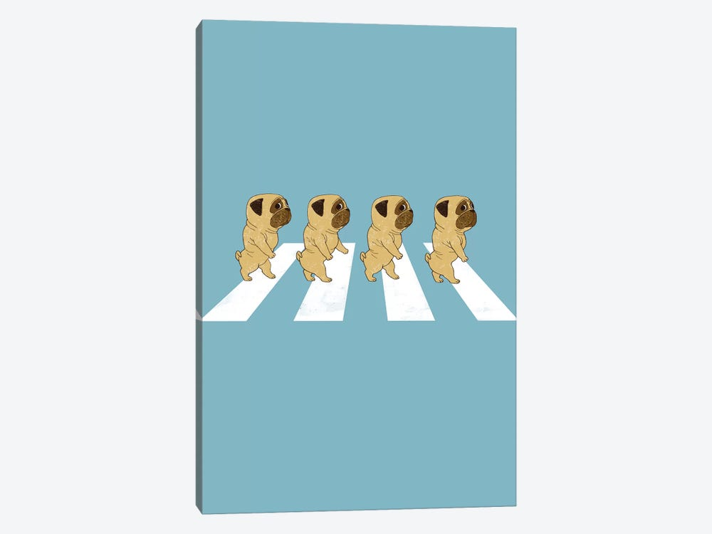 Puggy Road by Big Nose Work 1-piece Canvas Print
