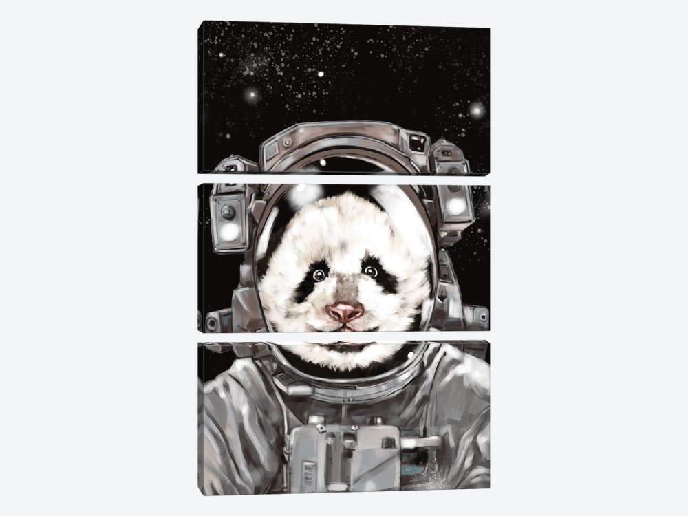 Astronaut Panda Selfie by Big Nose Work 3-piece Art Print