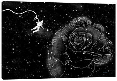 Rose In Space Canvas Art Print