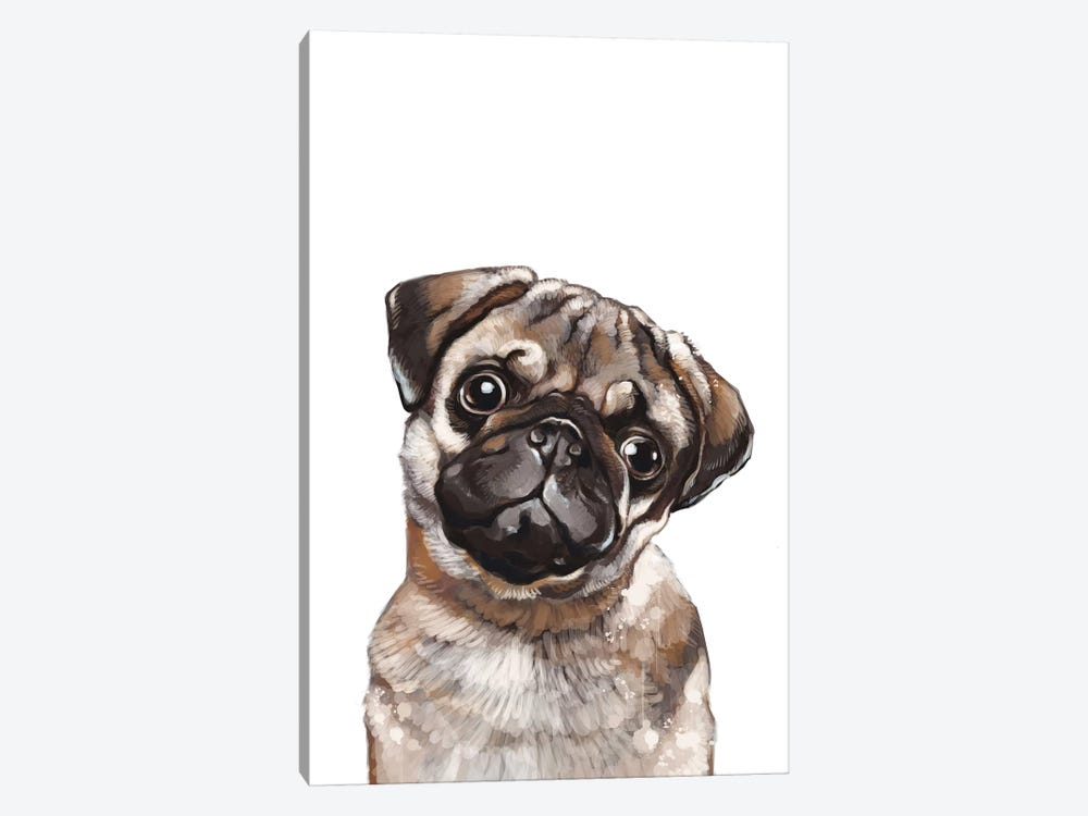 The Melancholic Pug by Big Nose Work 1-piece Canvas Art Print
