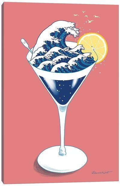 Wave Cocktail Canvas Art Print