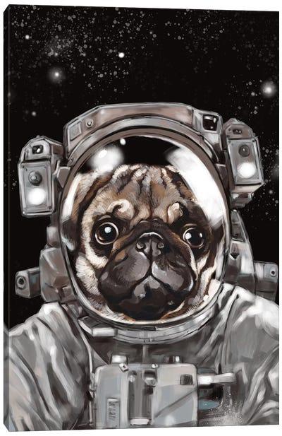 Astronaut Pug Selfie Canvas Art Print