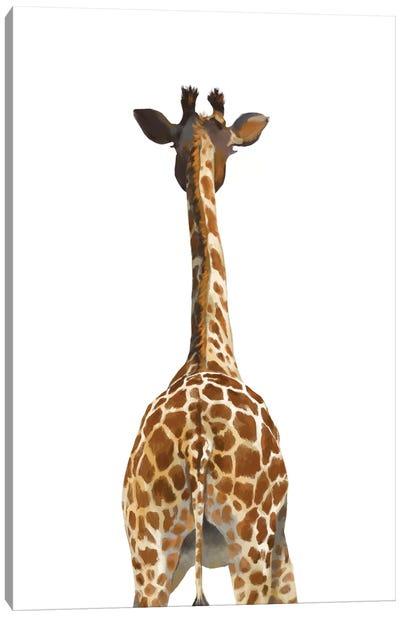 Giraffe Butt Canvas Art Print