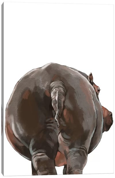 Hippo Butt Canvas Art Print