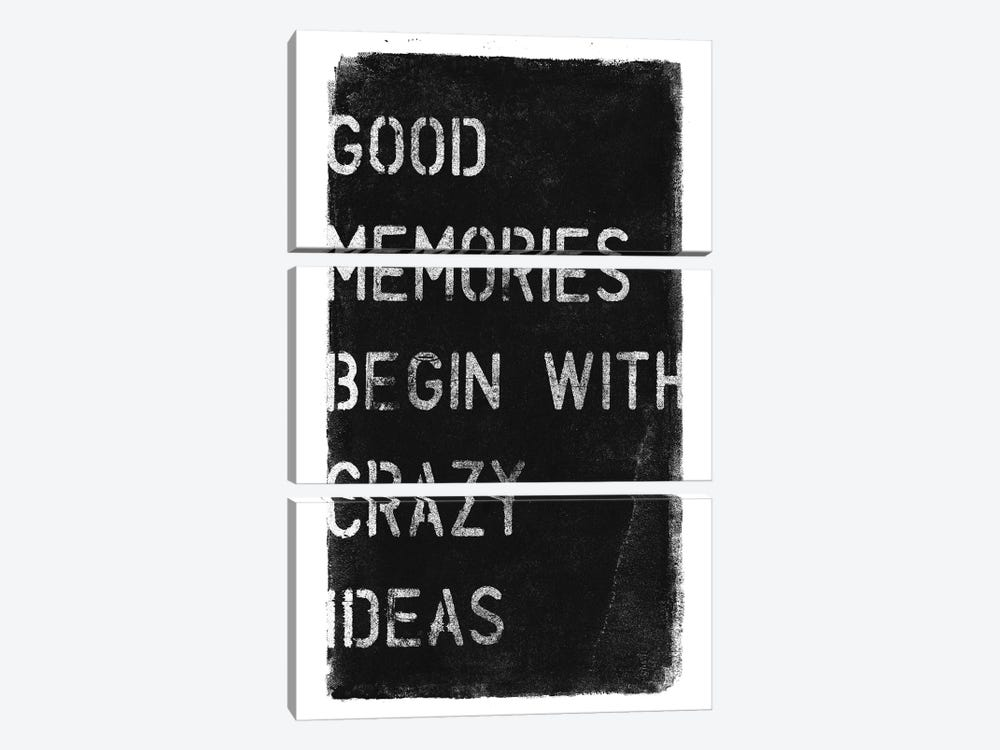 Crazy Ideas I by 33 Broken Bones 3-piece Canvas Wall Art