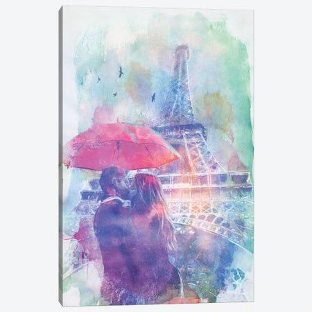 Eiffel Tower Love Canvas Print #BNZ13} by 33 Broken Bones Canvas Print