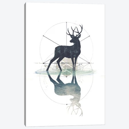 Geometric Stag Canvas Print #BNZ15} by 33 Broken Bones Canvas Art