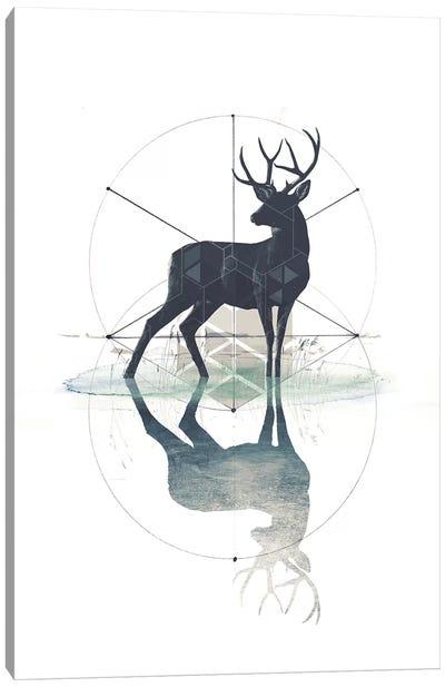 Geometric Stag Canvas Art Print