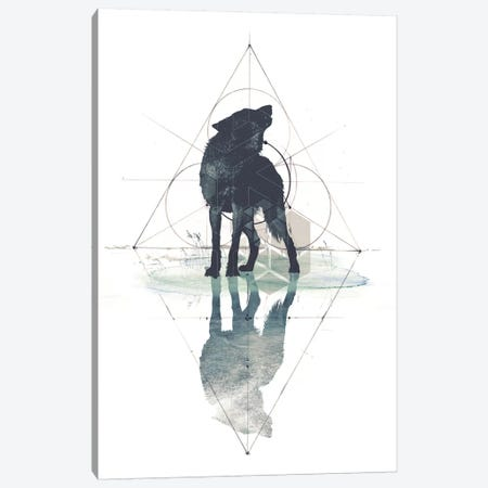 Geometric Wolf Canvas Print #BNZ16} by 33 Broken Bones Canvas Artwork