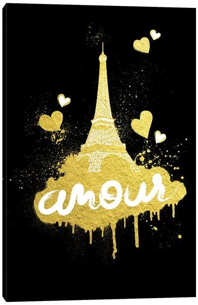 Golden Amour I Canvas Art Print